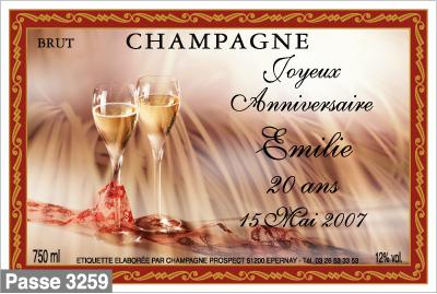 pour vos anniversaires - Tiquette Personnalise Champagne Mariage
